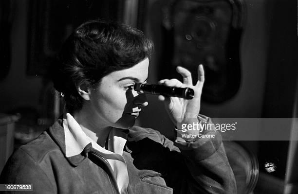 Edwige Feuillere In 'olivia' Directed By Jacqueline Audry BoulogneBillancourt novembre 1950 tournage du film 'Olivia' réalisé par Jacqueline AUDRY la...