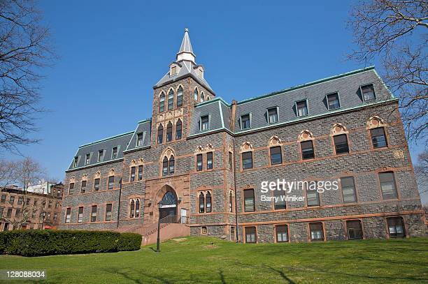 edwin a. stevens hall, stevens institute of technology, castle point on hudson, hoboken, new jersey, usa, march 2010 - hoboken stock pictures, royalty-free photos & images