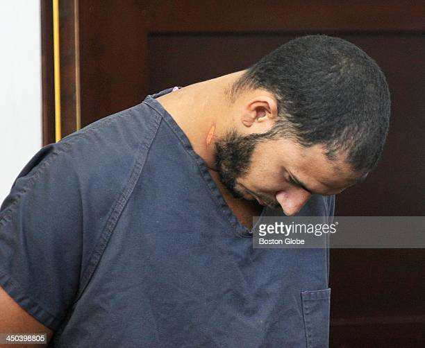 Edwin Alemany was arraigned in the murder of Amy Lord at West Roxbury District Court Thursday Aug 15 2013 The defendant tried to harm himself while...