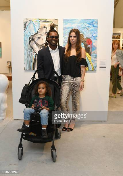 Edwin Baker and Olivia Namath attend the Art Wynwood VIP Opening Preview 2018 at The Art Wynwood Pavilion on February 15 2018 in Miami FL