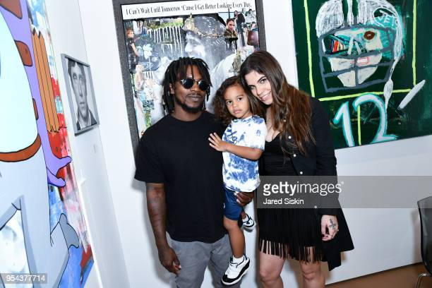 Edwin Baker III and Olivia NamathBaker attend Art New York on May 3 2018 at Pier 94 in New York City
