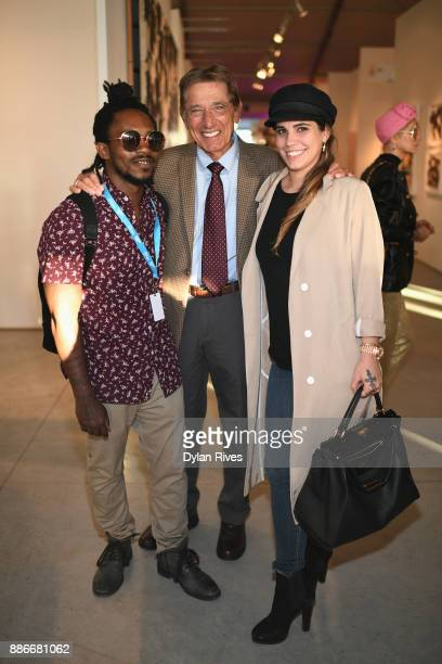 Edwin Baker III Joe Namath and Olivia Namath attend the Art Miami CONTEXT 2017 at Art Miami Pavilion on December 5 2017 in Miami Florida