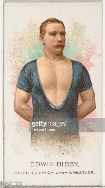 Edwin Bibby, Wrestler, from World's Champions, Series 2 for Allen & Ginter Cigarettes, 1888. Artist Allen & Ginter.