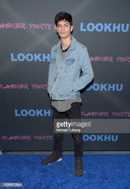 Edwin Burgos attends the premiere party for LookHu's Slasher Party at ArcLight Hollywood on September 18 2018 in Hollywood California