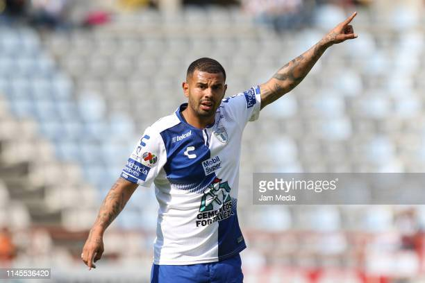 Edwin Cardona of Pachuca reacts during the 16th round match between Pachuca and Atlas as part of the Torneo Clausura 2019 Liga MX at Hidalgo Stadium...