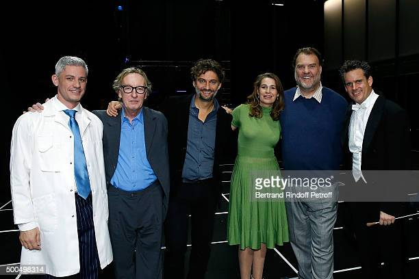Edwin CrosleyMercer Dominique Mercy Jonas Kaufmann Sophie Koch Bryn Terfel and Philippe Jordan attend the gala of AROP and the Representation of 'La...