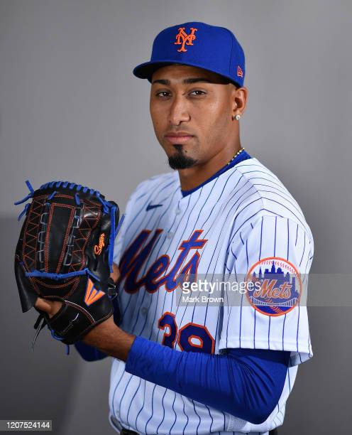 Edwin Diaz of the New York Mets poses for a photo during Photo Day at Clover Park on February 20, 2020 in Port St. Lucie, Florida.