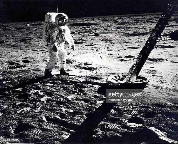 Edwin E Aldrin Jr On Moon During Apollo 11 Eva