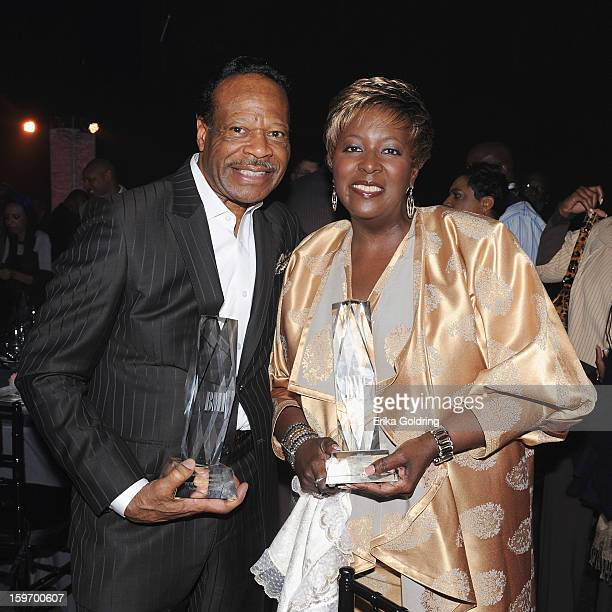 Edwin Hawkins and Lady Tremaine Hawkins attend the 14th annual BMI Trailblazers of Gospel Music Awards at Rocketown on January 18 2013 in Nashville...
