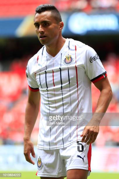 Edwin Hernandez of Chivas looks on during the third round match between Toluca and Chivas as part of the Torneo Apertura 2018 Liga MX at Nemesio Diez...