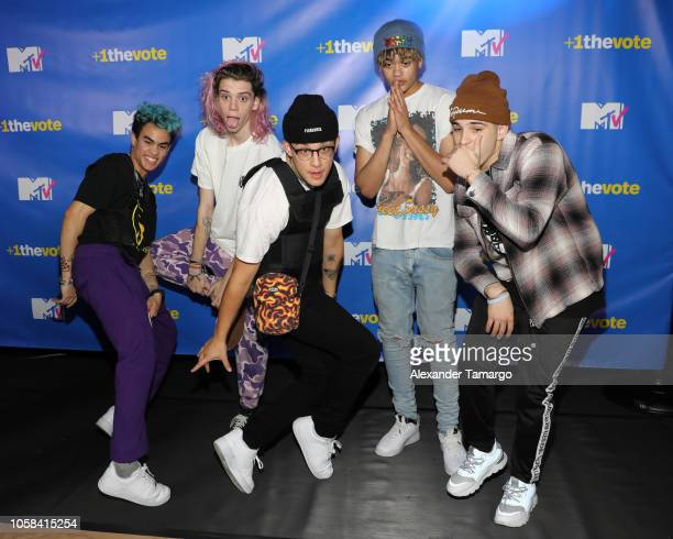 Edwin Honoret Austin Poter Brandon Arrega Zion Kuwonu and Nick Mara of Prettymuch attend MTV 1 The Vote 'Election Afterparty' on November 6 2018 in...