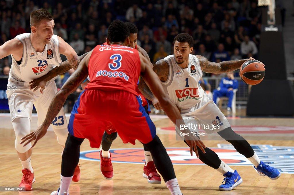 Buducnost Voli Podgorica v CSKA Moscow  - Turkish Airlines EuroLeague : News Photo