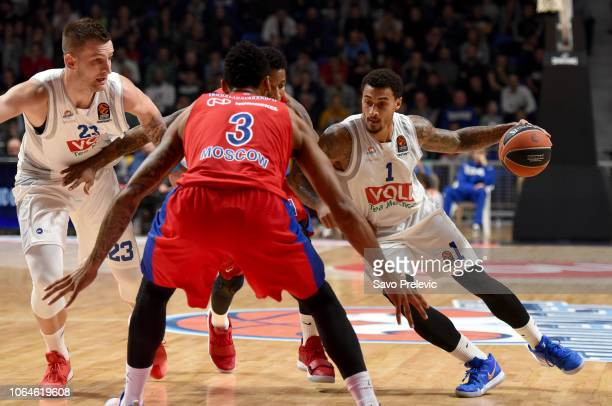 Edwin Jackson #1 of Buducnost Voli Podgorica in action during the 2018/2019 Turkish Airlines EuroLeague Regular Season Round 9 game between Buducnost...