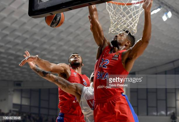 PODGORICA MONTENEGRO NOVEMBER Edwin Jackson #1 of Buducnost Voli Podgorica in action during the 2018/2019 Turkish Airlines EuroLeague Regular Season...
