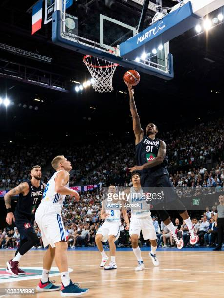Edwin Jackson from France in action during the FIBA Basketball Wolrd cup 2019 qualifier match between France and Finland at the Sud de France Arena...