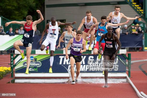 Edwin Kibichiy of the University of Louisville competes in the 3000 meter steeplechase during the Division I Men's Outdoor Track & Field Championship...
