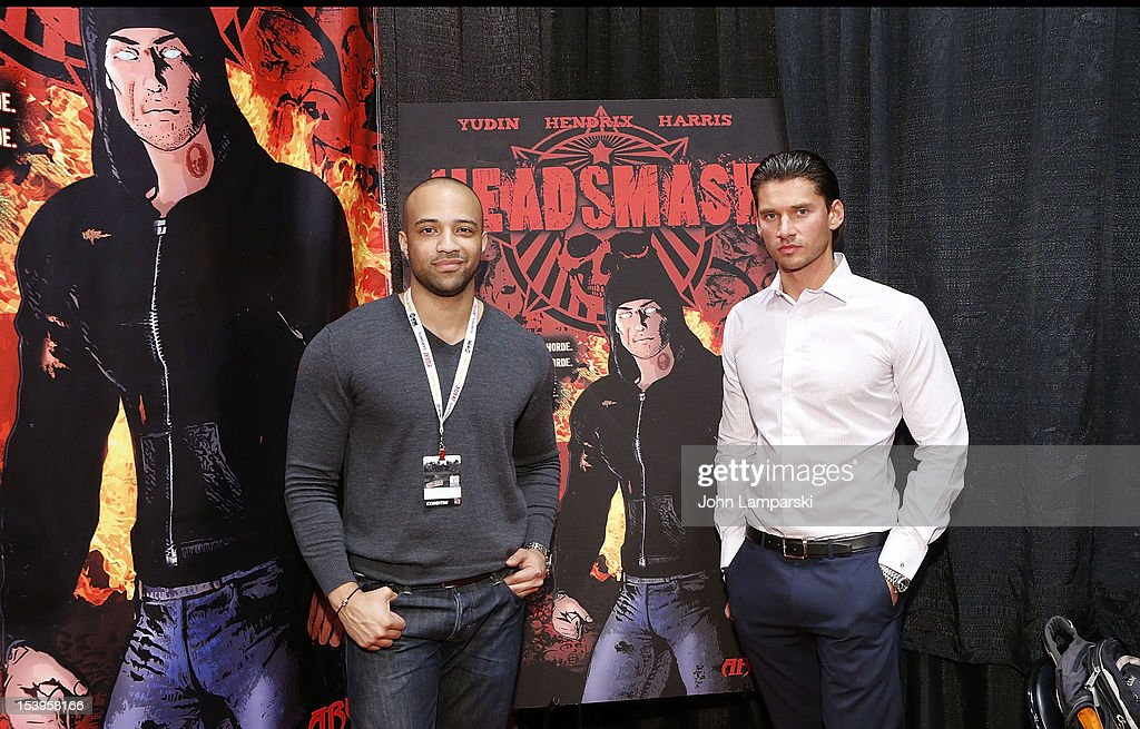 Edwin Mejia and Vlad Yudin attend The Vladar Company And Arcana Comics Present The 1st Edition Of HEADSMASH at Jacob Javitz Center on October 11, 2012 in New York City.