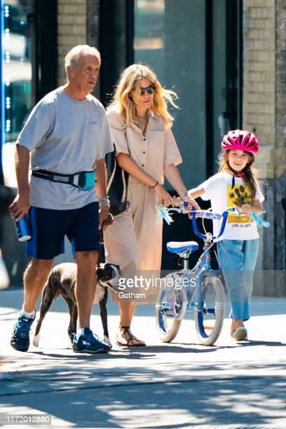 Edwin Miller Sienna Miller and Marlowe Sturridge are seen in the West Village on September 03 2019 in New York City