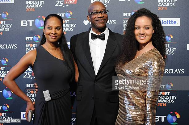Edwin Moses attends the BT Sport Industry Awards at Battersea Evolution on May 8 2014 in London England