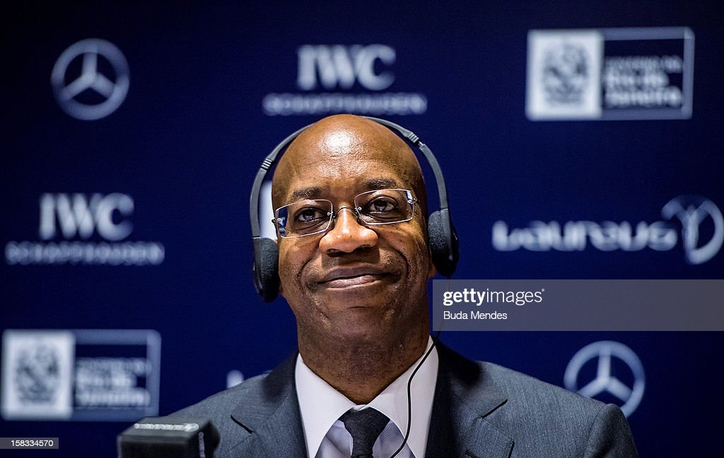 Edwin Moses during a press conference to announce the Nominees for the 2012 Laureus World Sports Awards at Windsor Atlantica Hotel on December 13, 2012 in Rio De Janeiro, Brazil. The Laureus World Sports Awards is recognised as the premier honours event in the international sporting calendar as stars of the sporting world come together to salute the finest sportsmen and sportswomen of the year. (Photo by Buda Mendes/Getty Images For Laureus) Edwin Moses;