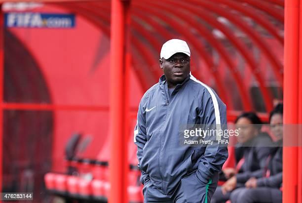 Edwin Okon of Nigeria in action during Nigeria training at Winnipeg Stadium on June 7, 2015 in Winnipeg, Canada.