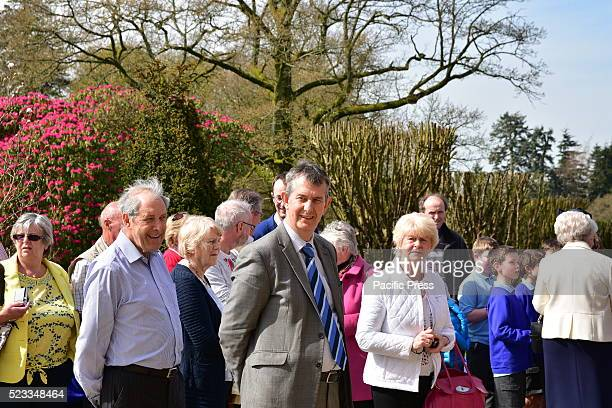 Edwin Poots in Attendance during a 21 Gun Salute that took place in the Grounds of Queen Elizabeths Northern Ireland Residence Hillsborough Castle to...