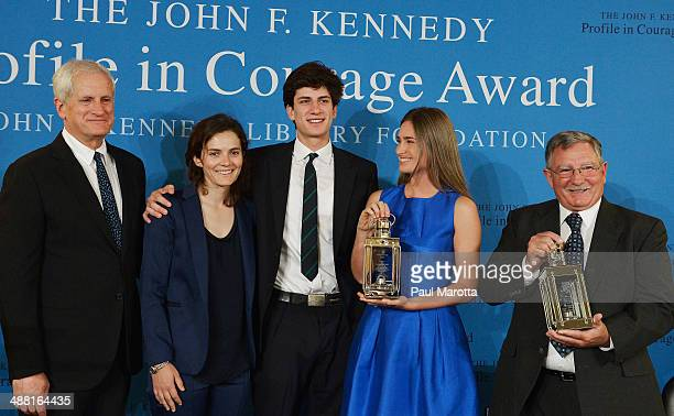 Edwin Schlossberg Rose Schlossberg Jack Schlossberg Lauren Bush Lauren and Paul Bridges attend 2014 the John F Kennedy Profile In Courage Award...