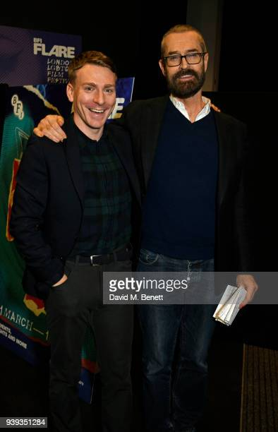 Edwin Thomas and Rupert Everett attend the UK Premiere of The Happy Prince as part of BFI Flare LGBTQ Film Festival 2018 at the BFI Southbank on...
