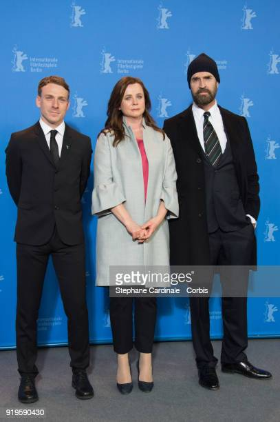 Edwin Thomas, Emily Watson and Rupert Everett pose at the 'The Happy Prince' photo call during the 68th Berlinale International Film Festival Berlin...