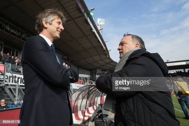 Edwin van de Sar of Ajax coach Dick Advocaat of Sparta Rotterdam during the Dutch Eredivisie match between Sparta Rotterdam and Ajax Amsterdam at the...