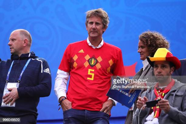 Edwin Van Der Sar attends the 2018 FIFA World Cup Russia Semi Final match between Belgium and France at Saint Petersburg Stadium on July 10 2018 in...