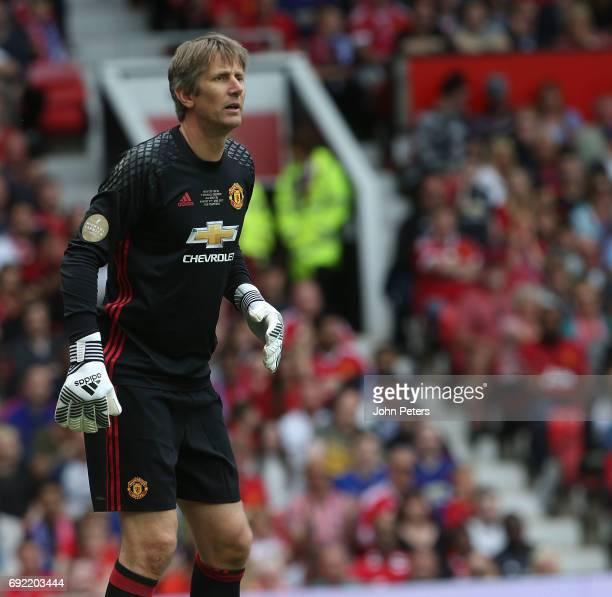 Edwin van der Sar of Manchester United in action during the Michael Carrick Testimonial match between Manchester United and Michael Carrick AllStars...