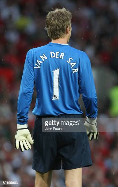 Edwin van der Sar of Manchester United in action during the preseason friendly match between Manchester United and Juventus at Old Trafford on August...
