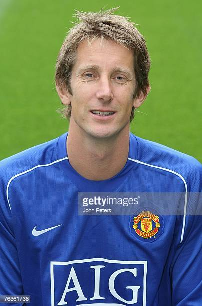 Edwin van der Sar of Manchester United poses during the club's official annual photocall at Old Trafford on August 28 2007 in Manchester England