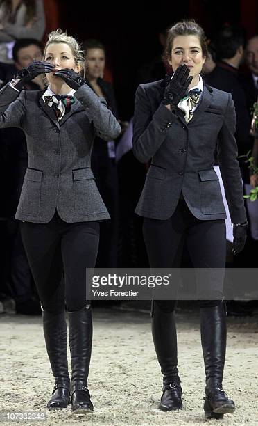 Edwina Alexander and Charlotte Casiraghi attend the International Gucci Masters Competition at Paris Nord Villepinte on December 4 2010 in Paris...