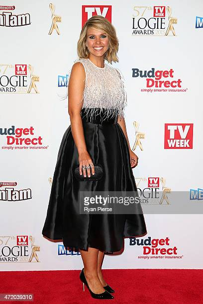 Edwina Bartholomew arrives at the 57th Annual Logie Awards at Crown Palladium on May 3 2015 in Melbourne Australia
