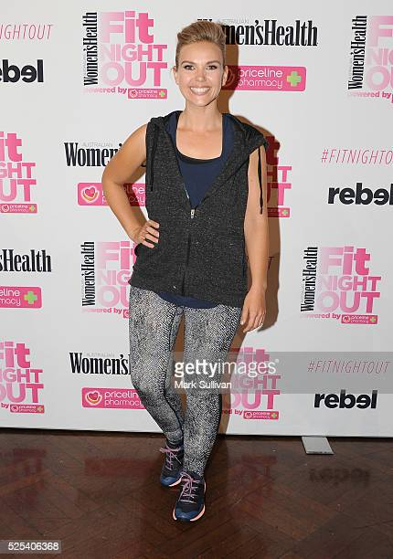 Edwina Bartholomew attends the launch of Women's Health Fit Night Out at Sydney Town Hall on April 28 2016 in Sydney Australia
