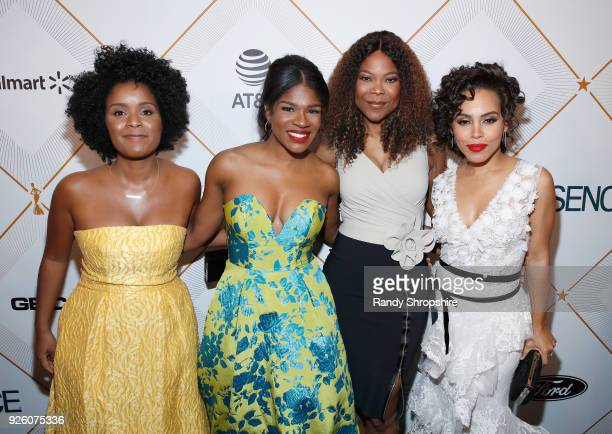 Edwina Findley Dickerson Amirah Vann and guests attend the 2018 Essence Black Women In Hollywood Oscars Luncheon at Regent Beverly Wilshire Hotel on...