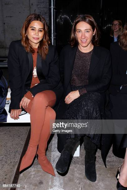 Edwina McCann and Christine Centenara arrive ahead of the KITX show at MercedesBenz Fashion Week Resort 18 Collections at Bay 25 Carriageworks on May...