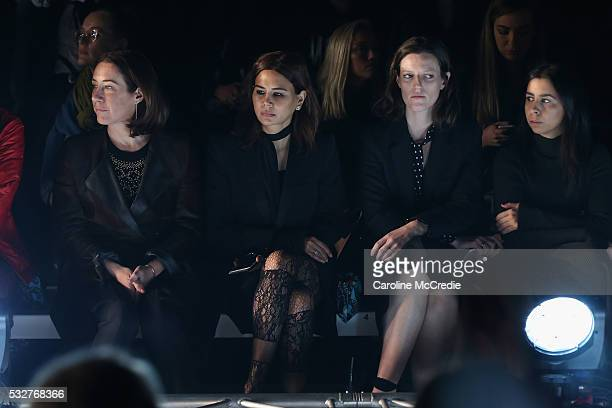 Edwina McCann and Christine Centenera attend the We Are Handsome show at MercedesBenz Fashion Week Resort 17 Collections at Carriageworks on May 19...