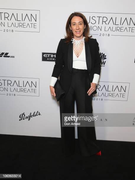 Edwina McCann poses at the 2018 Australian Fashion Laureate Awards on November 20 2018 in Sydney Australia