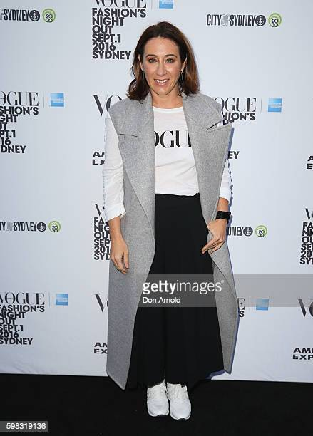 Edwina McCann poses during Vogue American Express Fashion's Night Out on September 1 2016 in Sydney Australia