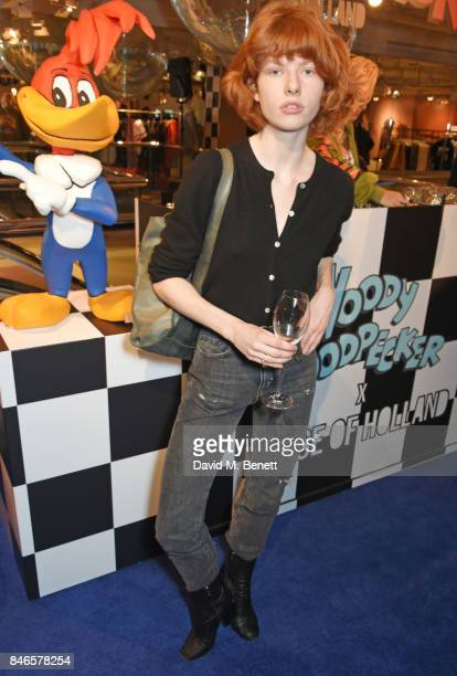 Edwina Preston attends the launch of the House of Holland x Woody Woodpecker London Fashion Week pop up at Fenwick Of Bond Street on September 13...