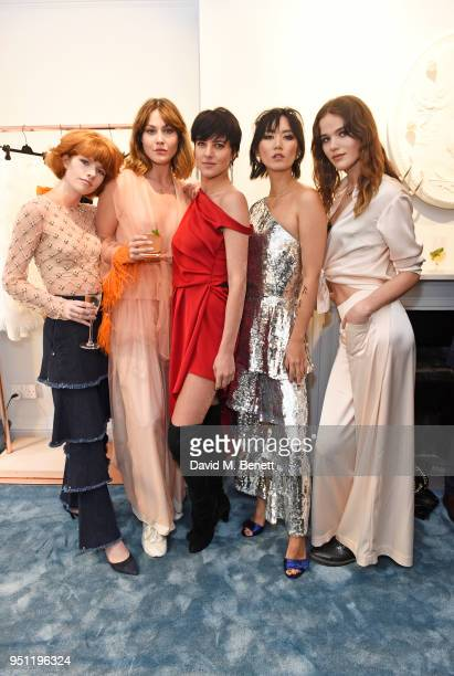 Edwina Preston Martine Lervik Eliza Cummings Betty Bachz and Frankie Herbert attend the House Of Osman launch party supported by Peroni Ambra on...