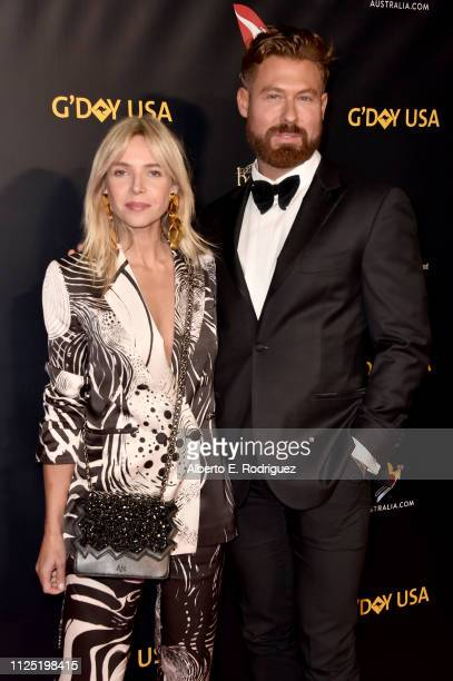 Edwina Robinson and Adrian Norris attend the 16th annual G'Day USA Los Angeles Gala at 3LABS on January 26 2019 in Culver City California