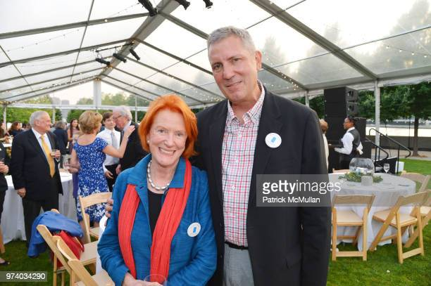 Edwina Sandys and Soren Larson attend the Franklin D Roosevelt Four Freedoms Park's gala honoring Founder Ambassador William J Vanden Heuvel at...