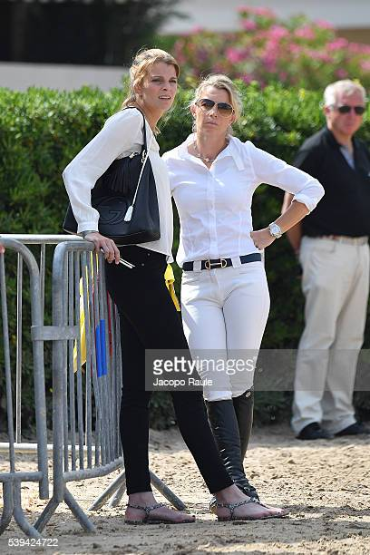 Edwina TopsAlexander and Athina Onassis attend International Longines Global Champion Tour Day 3 on June 11 2016 in Cannes France