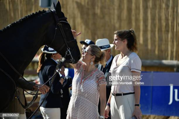 Edwina TopsAlexander and Athina Onassis with AD Rackham 'Jo during the Longines Grand Prix Athina Onassis Horse Show on June 3 2017 in St Tropez...