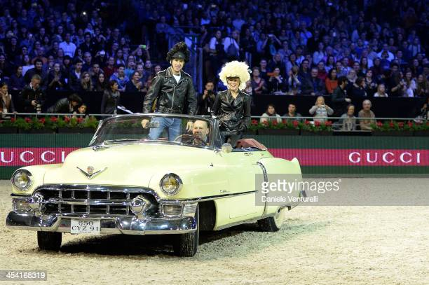 Edwina TopsAlexander and Guillaume Canet attend day 3 of the Gucci Paris Masters 2013 at Paris Nord Villepinte on December 7 2013 in Paris France