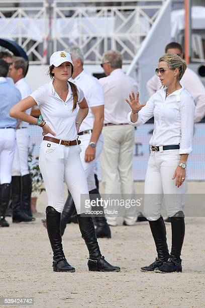 Edwina TopsAlexander and Jessica Springsteen attend International Longines Global Champion Tour Day 3 on June 11 2016 in Cannes France